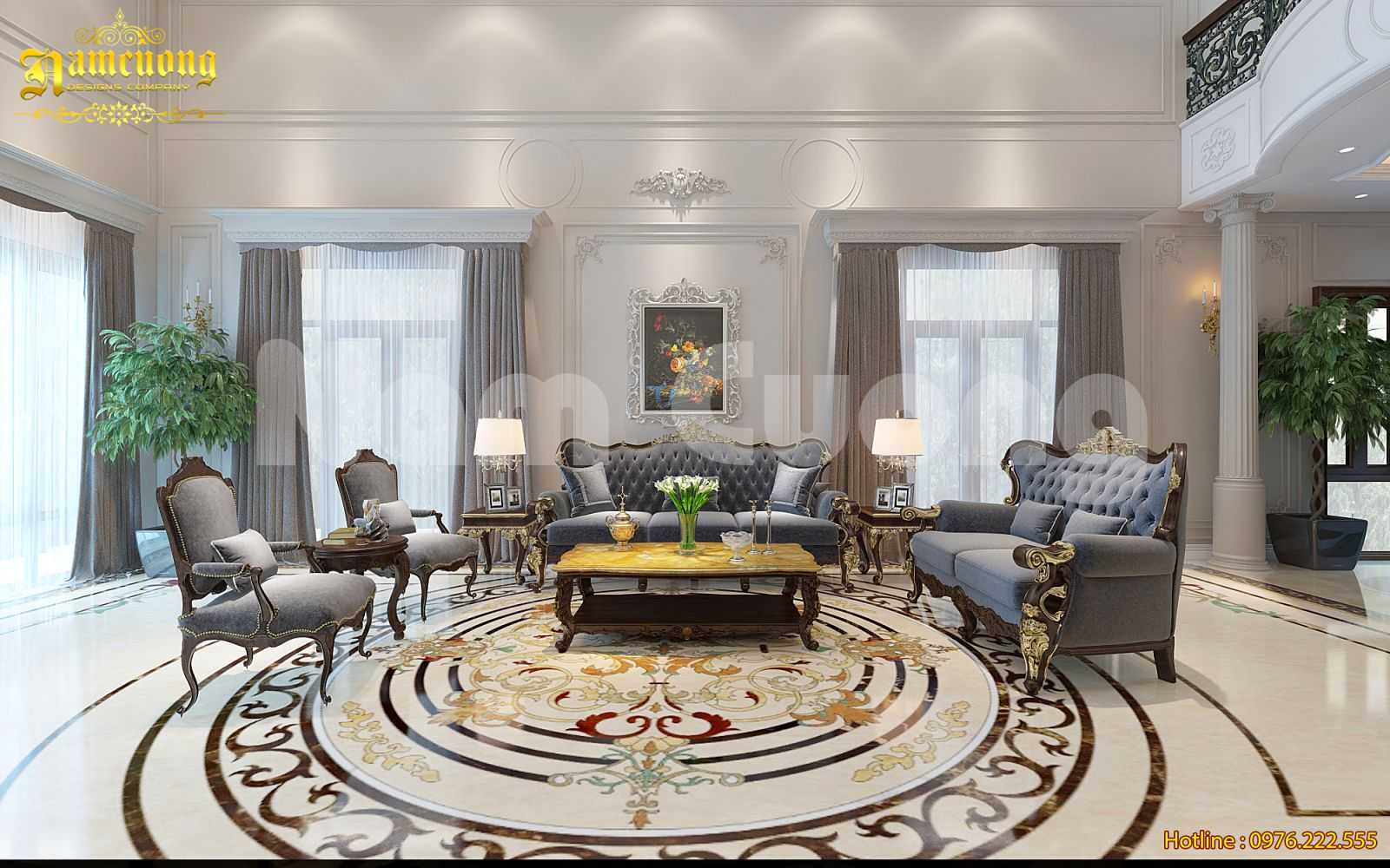 Thiết kế nội thất biệt thự tân cổ điển 2 tầng tại Quảng Bình