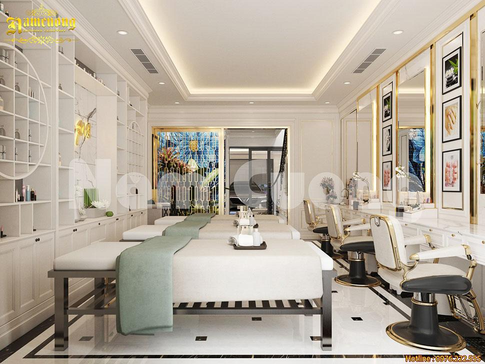 Thiết kế không gian spa, làm nail đẹp tại Bắc Ninh