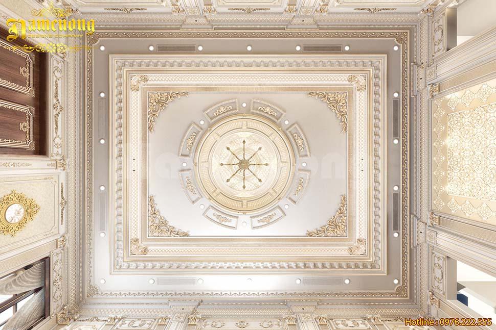 Thiết kế trần thạch cao tân cổ điển tô điểm cho căn nhà bạn